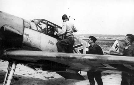 Bf 109 F-2 (W.Nr. 6674) Chevron Triangle flown by Hptm. Heinz Bretn�tz.