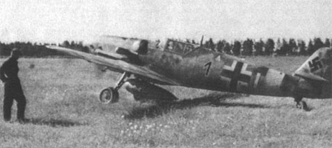 Bf 109G-6 W.Nr. 442 013 Black 1 of 10./JG 51 in which Toni Hafner died on 17 October 1944.