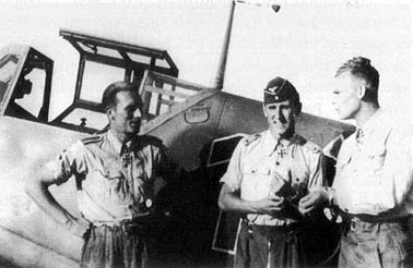 From left: Karl Gratz, G�nther Rall and Friedrich Wachowiak.