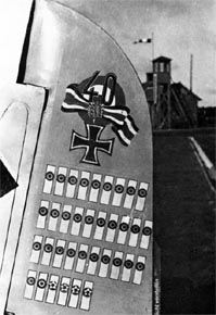 seventy-five victories are displayed on the rudder of Schnell`s Fw 190A